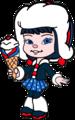Adorabeezle Winterpop with her Ice Cream - wreck-it-ralph fan art