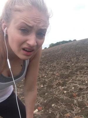 After running selfie