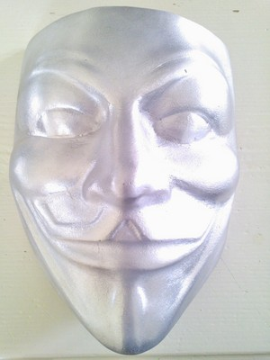 Aluminum copy of the mask