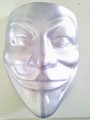 Aluminum copy of the mask - v-for-vendetta photo