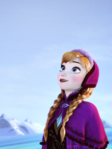Frozen kertas dinding entitled Anna Frozen