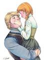 Anna and Kristoff - frozen fan art