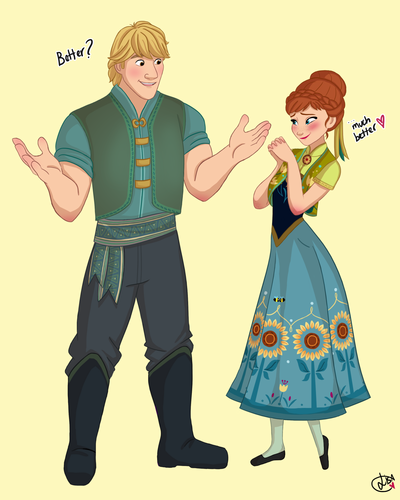 Frozen Fever Hintergrund probably with Anime entitled Anna and Kristoff