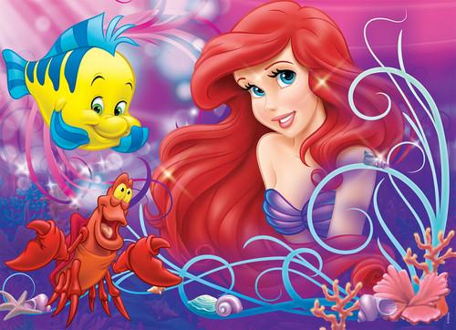 Principesse Disney wallpaper called Walt Disney immagini - Flounder, Sebastian & Princess Ariel