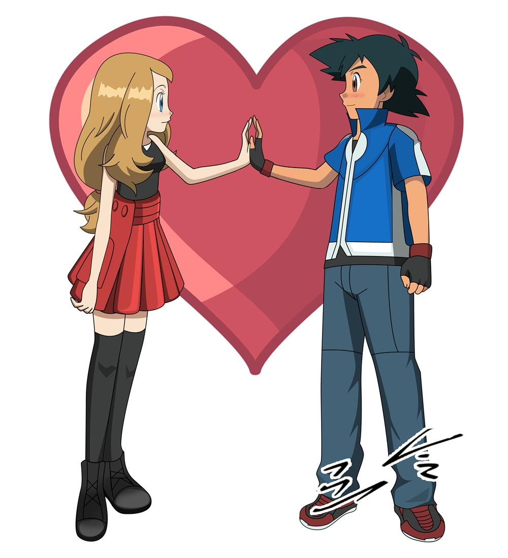 Ash And Serena Ash And Serena Fan Art 38062420 Fanpop
