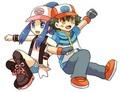 Ash and dawn - pokemon photo