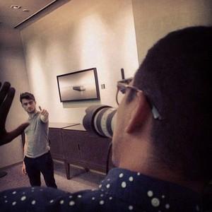 Behind the Daniel Radcliffe LeeMX Photoshoot (fb.com/DanielJacobRadcliffefanClub)