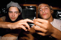 Behind the Scenes - Rory Cochrane and Matthew McConnaughey - dazed-and-confused photo