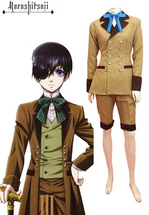 Black Butler कुरोशितसूजी Ciel Phantomhive Gray Suit Cosplay Costume