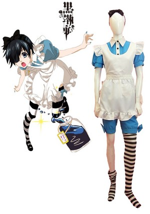 Black Butler 黒執事 Ciel Phantomhive Maid Dress Cosplay Costume
