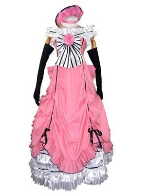 Black Butler Black Butler - Il maggiordomo diabolico Ciel Phantomhive rosa Lolita Dress Cosplay Costume