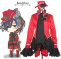 Black Butler Kuroshitsuji Ciel Phantomhive Red Boy Lolita Cosplay Costume