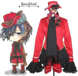 Black Butler Black Butler - Il maggiordomo diabolico Ciel Phantomhive Red Boy Lolita Cosplay Costume