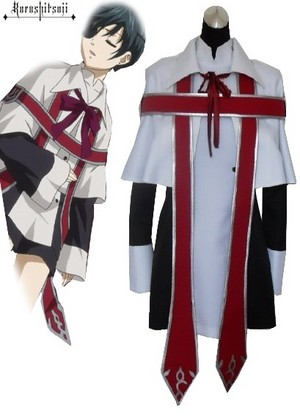 Black ButlerⅡ कुरोशितसूजी Ciel Phantomhive Uniform Cosplay Costume