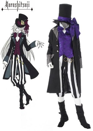 Black ButlerⅡ Black Butler - Il maggiordomo diabolico Grim Reapers Undertaker Suit Cosplay Costume