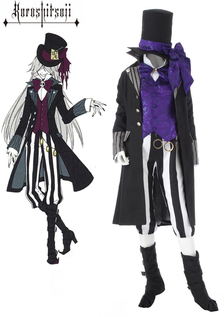 Kuroshitsuji Black Butler Images ButlerII Grim Reapers Undertaker Suit Cosplay Costume HD Wallpaper And Background Photos