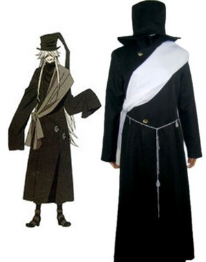 Black Butler कुरोशितसूजी Grim Reapers Undertaker Uniform Cosplay Costume