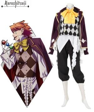 Black Butler 흑집사 Noah's Ark Circus Joker Cosplay Costume