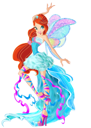 o clube das winx wallpaper possibly containing a bouquet called Bloom Harmonix fã Art