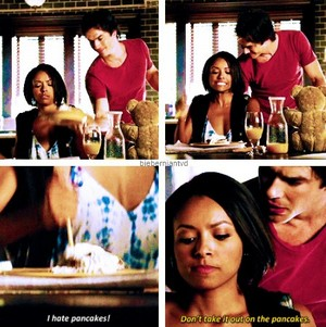 "Bonnie and Damon || ""I hate pancakes!"""
