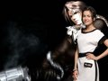 CAMILLA BELLE AND FAKE FANS SQUALL LEONHART - squall photo