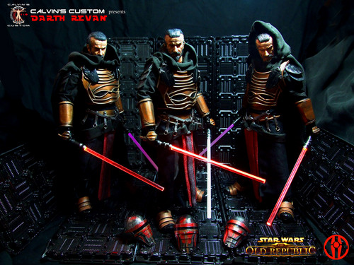 nyota Wars karatasi la kupamba ukuta entitled Calvin's Custom one sixth scale SWTOR Darth Revan Figures