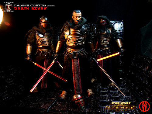 étoile, étoile, star Wars fond d'écran called Calvin's Custom one sixth scale SWTOR Darth Revan Figures