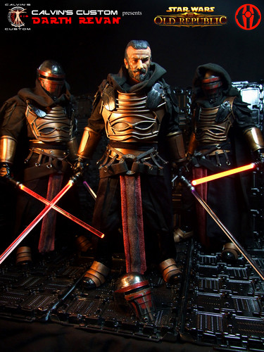 Star Wars wallpaper possibly containing an armor plate, a breastplate, and a brigandine entitled Calvin's Custom one sixth scale SWTOR Darth Revan Figures