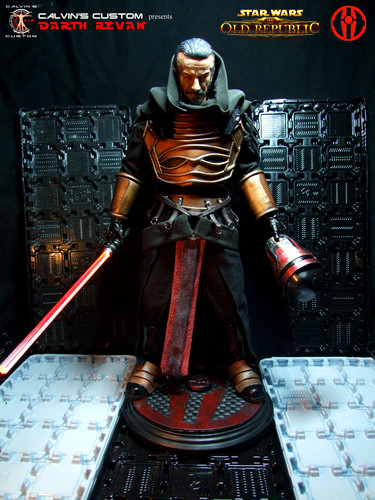la guerra de las galaxias fondo de pantalla probably with a breastplate and an armor plate called Calvin's Custom one sixth scale SWTOR Darth Revan Figures