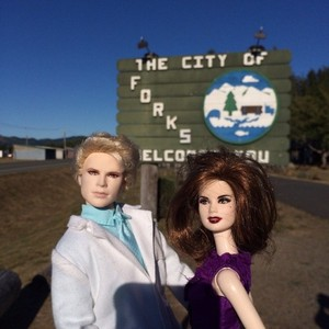 Carlisle and Esme dolls in Forks