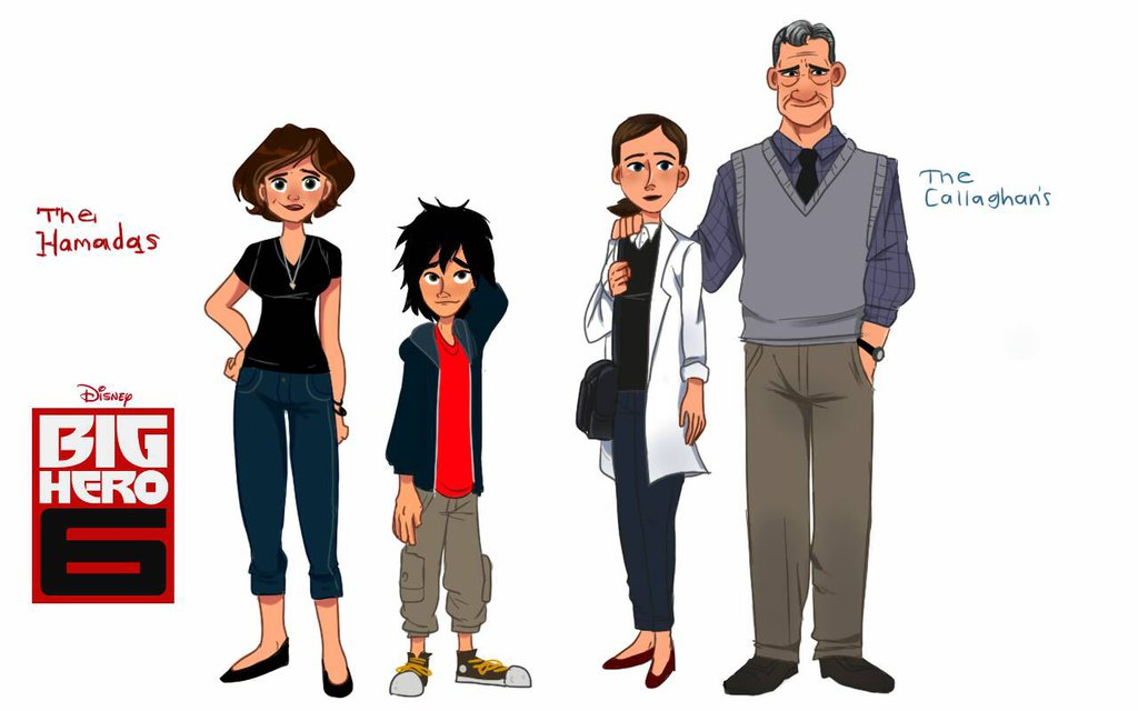 Cass and Hiro, Robert Callaghan and Abigail