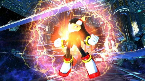 Shadow The Hedgehog kertas dinding probably with a sign called Chaos Blast!