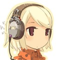 ちび girl with headphones