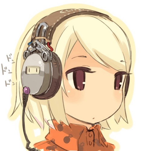 anime hình nền entitled Chibi girl with headphones