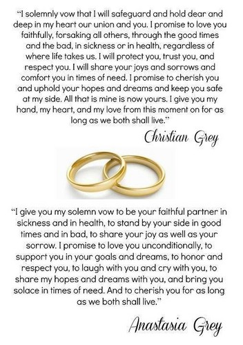 Fifty Shades-Trilogie Hintergrund entitled Christian and Ana's wedding vows