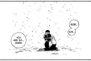 Crying in Juvia's arms ♥