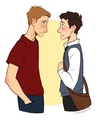 Destiel Highschool AU