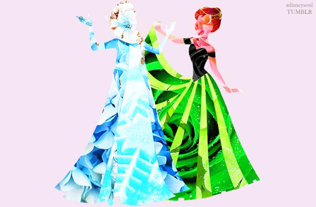 Disney Princess in Flowers