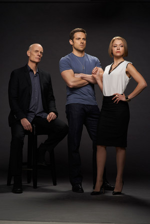 Dr. Aldous Leekie, Paul Dierden and Rachel Duncan Season 2 Promotional Picture