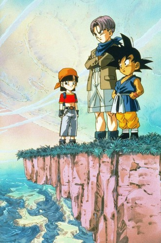 Dragon Ball Z fond d'écran possibly with a baigneur, baigneuse called Dragon Ball GT