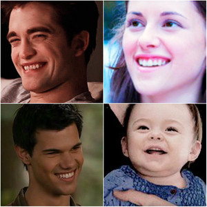 Edward, Bella, Jacob, and Renesmee