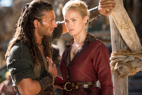 Black Sails দেওয়ালপত্র containing a horse trail and a horse wrangler entitled Eleanor & Charles
