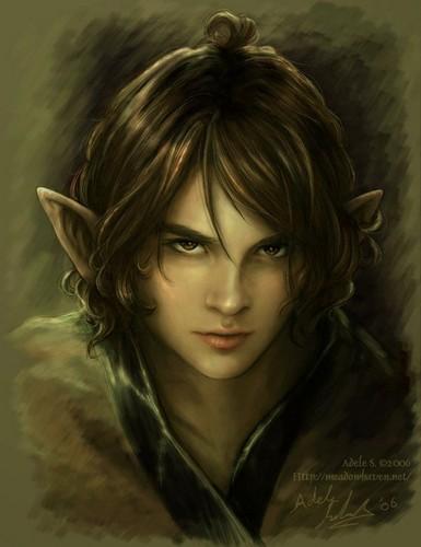 Fantasy Hintergrund with a portrait entitled Elf