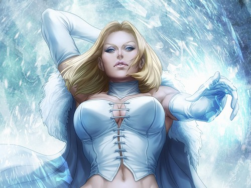 X-Men wallpaper probably containing a maillot, a leotard, and a swimsuit called Emma Frost / White Queen wallpapers