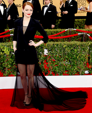Emma Stone attends TNT's 21st Annual Screen Actors Guild Awards (January 24th, 2015)