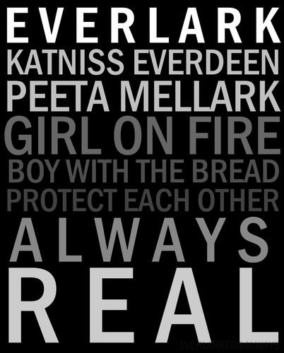 Peeta Mellark and Katniss Everdeen kertas dinding probably with Anime titled Everlark Petikan Fanart
