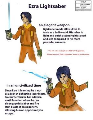 Ezra's Lightsaber/Blaster Hybrid