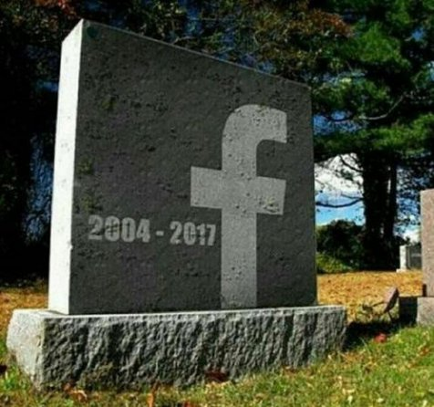 Facebook wallpaper possibly containing a gravestone titled FACEBOOK GRAVESTONE