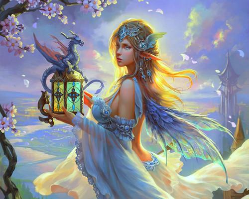 Fantasy Hintergrund titled Fairy