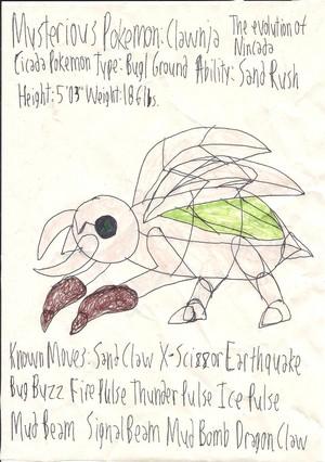 Fan-made Pokemon - Clawnja